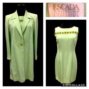 Escada 2 piece suit. Dress & jacket size 40 us 10